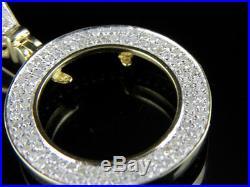 10K Yellow Gold Diamond 1/10th oz American Eagle Bezel Pendant 0.65ct 1.5