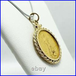 $10 Gold American Eagle 14k Gold Bezel Pendant (5210)