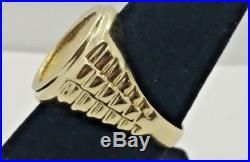14K Yellow Gold 1/10 1990 Gold American Eagle Coin Ring Size 10 12.6 Grams ST1