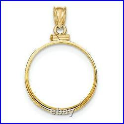 14k Yellow Gold Screw top 1 oz American Eagle Coin Bezel