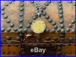 174x-l 8e Philip V Peru Cob Gold 8 Escudos In Bezel