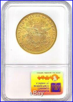 1899 $20 American Gold Double Eagle Liberty Head MS63 High Grade NGC CAC Coin