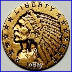 1911 Indian Head $5 Five Dollar Half Eagle American Gold Investment Piece