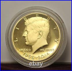1964-2014 (50th Anniversary) KENNEDY Half Dollar 3/4 oz. 9999 Fine Gold Coin