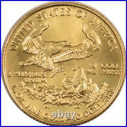 1986 $10 1/4 Oz American Gold Eagle Roman Numeral 1st Year, Gem Bu