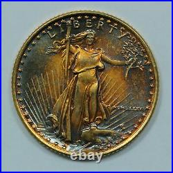 1986 1/10 Oz Gold American Eagle $5 with Crazy Toning
