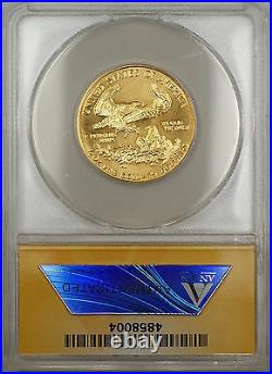 1986 $25 American Gold Eagle Coin AGE 1/2 Oz ANACS MS-67 GEM SB