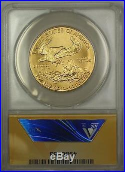 1986 $50 Fifty Dollar American Gold Eagle Coin AGE 1 Oz ANACS MS-65