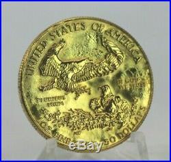 1986 $50 Gold Eagle 1 OZ Fine Gold US Coin NO RESERVE