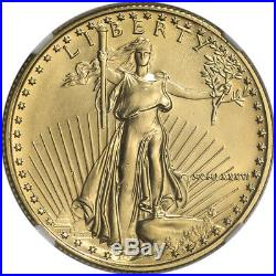1986 American Gold Eagle 1/2 oz $25 NGC MS69 First Year of Issue Label