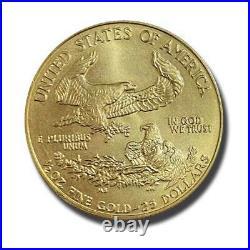 1986 Half Ounce US Liberty American Eagle $25 Gold Coin