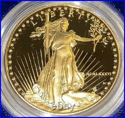 1986-W Proof 1 Oz American Gold Eagle $50 Coin PROOF GEM Zero Flaws DCAMEO withCOA