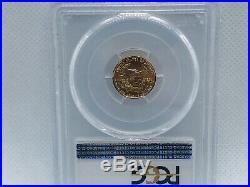 1987 1/10 Oz Gold American Eagle Coin Ms-70 Pcgs $5 Denomination