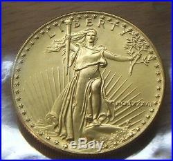 1987 $50 1 Oz Gold 2nd Year Issue American Eagle Bu Beauty