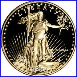 1987-W American Gold Eagle Proof 1 oz $50 in OGP