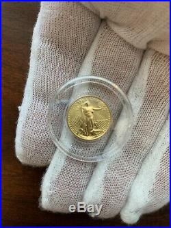 1989 American Gold Eagle 1/10 oz $5 coin Rare Roman Numeral FREE SHIPPING