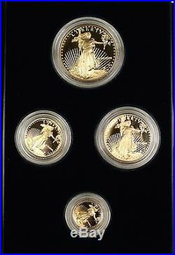 1989 American Gold Eagle AGE 4 Coin $5 $10 $25 $50 Gold Proof Set as Issued