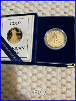 1989-W American Gold Eagle Proof 1 oz $50 in Original Mint Packaging One Oz Gold