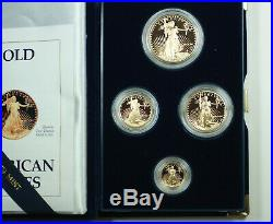 1990 American Eagle Gold Proof 4 Coin Set AGE in Box with COA