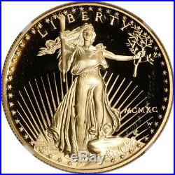 1990-W American Gold Eagle Proof 1 oz $50 NGC PF70 UCAM