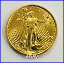1991 American Gold Eagle 1/10 oz $5