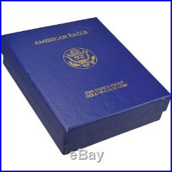 1991-W American Gold Eagle Proof 1 oz $50 in OGP