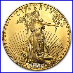 1992 1 oz Gold American Eagle BU SKU #9116