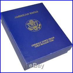 1992-P American Gold Eagle Proof 1/2 oz $25 in OGP