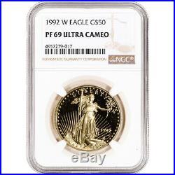 1992-W American Gold Eagle Proof 1 oz $50 NGC PF69 UCAM