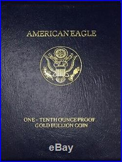 1993-P American Gold Eagle Proof (1/10 oz) $5 in OGP