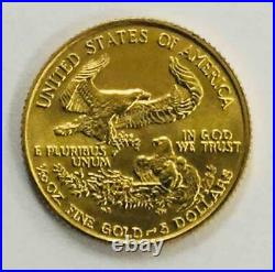 1994 American Gold Eagle 1/10 oz $5