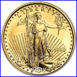 1996 1/10 oz Gold American Eagle BU SKU #4879