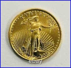 1996 American Gold Eagle 1/10 oz $5