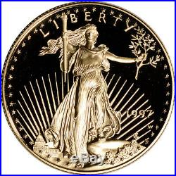 1997-W American Gold Eagle Proof 1/2 oz $25 in OGP