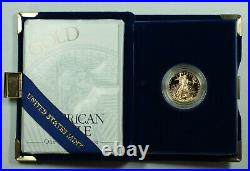 1997-W Proof 1/4 Oz American Gold Eagle $10 Coin with Box & COA