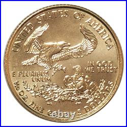1999 $5 American Gold Eagle 1/10 oz Brilliant Uncirculated