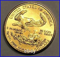 1999 Five Dollar American Gold Eagle BU 1/10 oz Early Dated Gold Bullion Coin