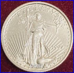 1999 Gold American Eagle 5 Dollars 1/10th oz