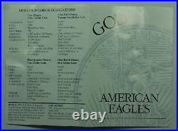 1999-W American Eagle Gold 4 Coin Set Proof Coins in US Mint Box withCOA