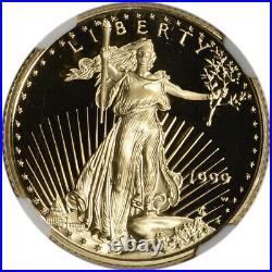 1999-W American Gold Eagle Proof (1/4 oz) $10 NGC PF69 UCAM