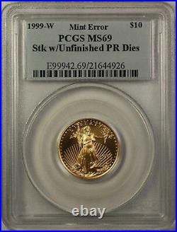 1999-W Emergency Issue $10 American Gold Eagle Coin PCGS MS-69 Mint Error