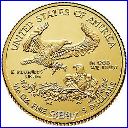 1/10 oz American Gold Eagle Coin (BU)