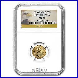 1/10 oz Gold American Eagle MS-70 NGC (Random Year) SKU #83507