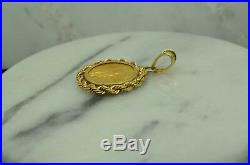 1/10th Oz 1989 $5 Gold American Eagle Coin In A 14k Yellow Gold Rope Bezel