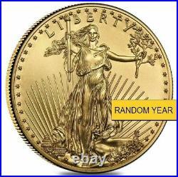 (1) 1/2 oz Gold American Eagle $25 Coin BU (Random Year)