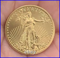 1/4 ounce pure fine GOLD coin Liberty 2011 + American GOLD Eagle