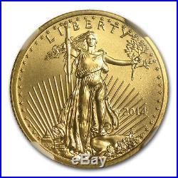 1/4 oz Gold American Eagle MS-70 NGC (Random Year) SKU #83505