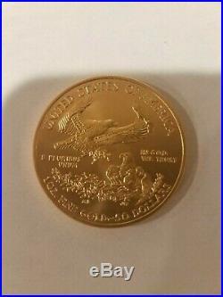 1 Troy Oz Gold American Eagle $50 Gold BU 2009 Year