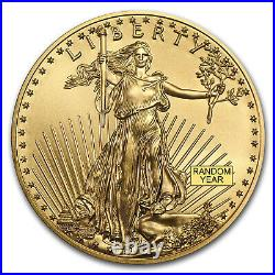 1 oz American Gold Eagle $50 Coin BU Random Year US Mint Tube of 20