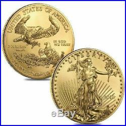 1 oz Gold American Eagle Coin Random Year BU